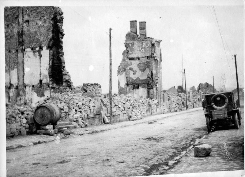Le village de Clermont-en-Argonne complètement rasé par les bombardements allemands
