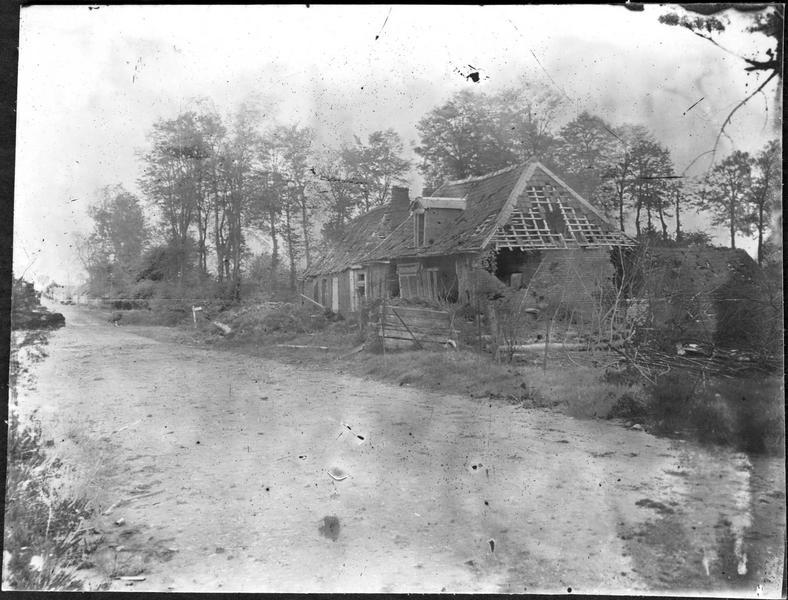 Maisons détruites à Pozières
