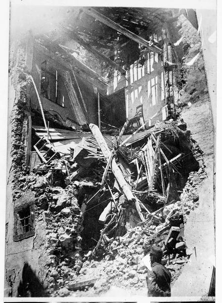 Vallée de la Terragnola : maison bombardée