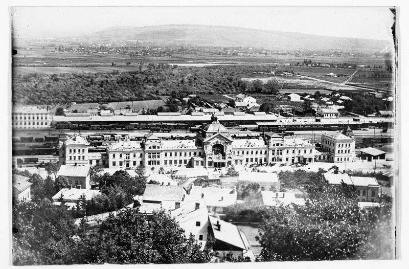 Panorama de la gare de Czernowitz (anciennement)
