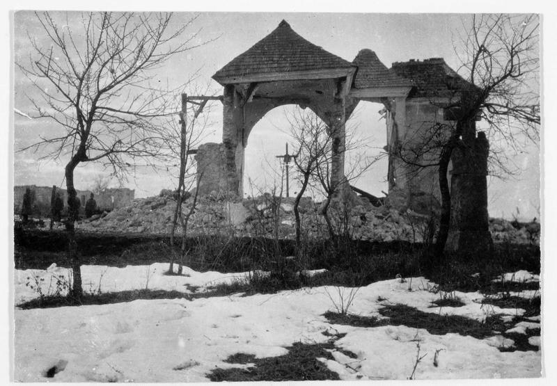 La chapelle détruite de Buczacz (en yiddish)