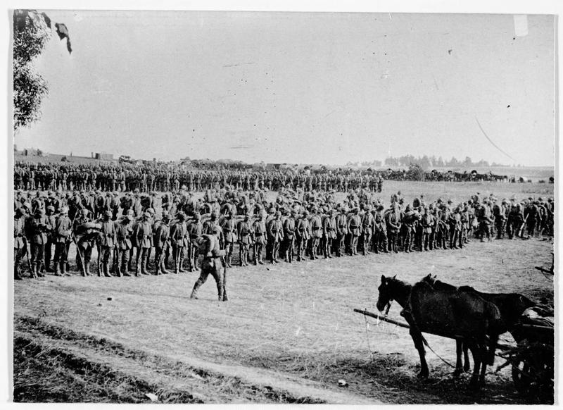 Front occidental : revue des troupes de réserve