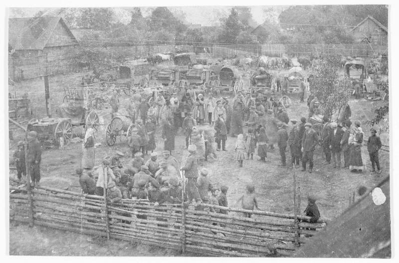 Front oriental, camp sanitaire des troupes allemandes pour les prisonniers civils russes