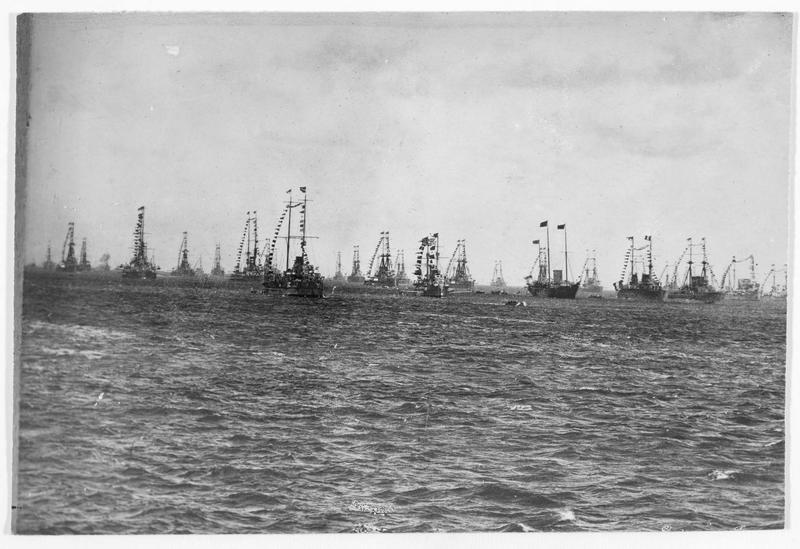La grande flotte anglaise en fête avant la guerre