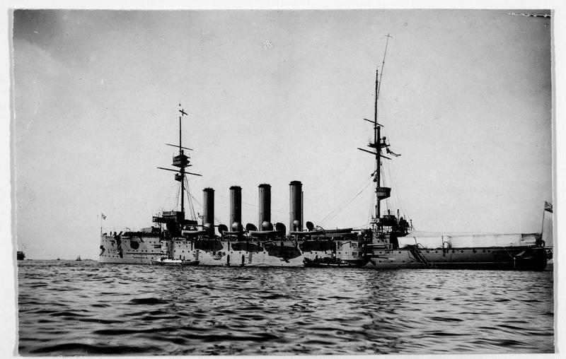 Le croiseur anglais Euryalus, qui fut coulé à la bataille du Jutland en 1916, après un dernier combat naval