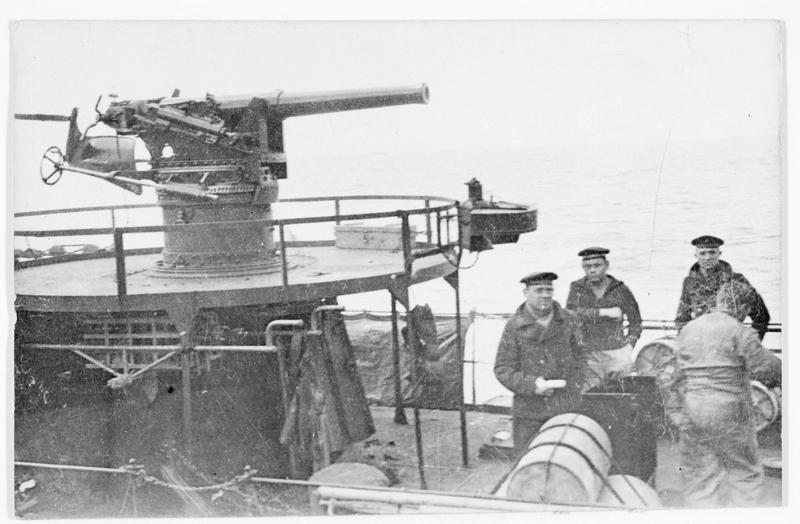 A bord d'un torpilleur allemand