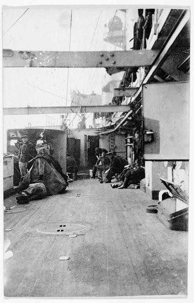 A bord d'un navire de guerre allemand