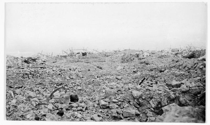 Une partie du champ de bataille abandonnée, près de Verdun