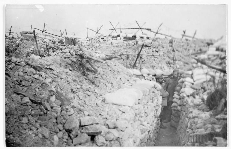 Front occidental, près de Verdun, une position allemande fortement défendue