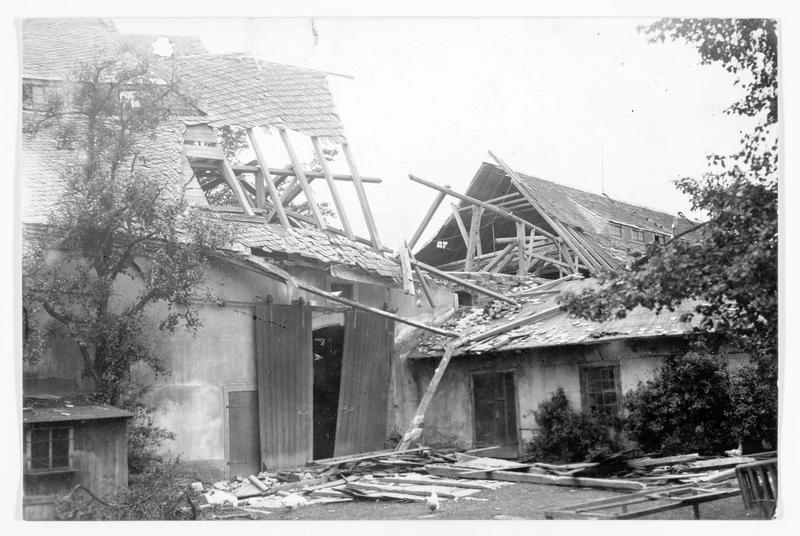 Ouragan en Saxe, maison détruite près de Mitweida, dans la vallée de Ringe