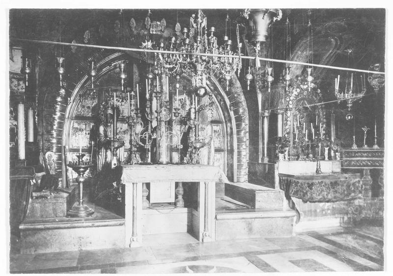 La chapelle du Saint-Sépulcre: vue intérieure
