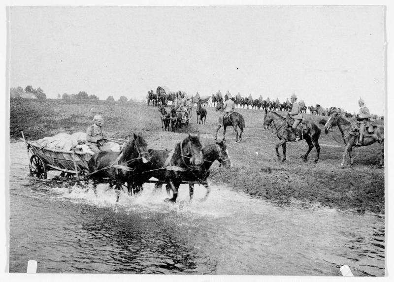 Marche des troupes allemandes en Serbie