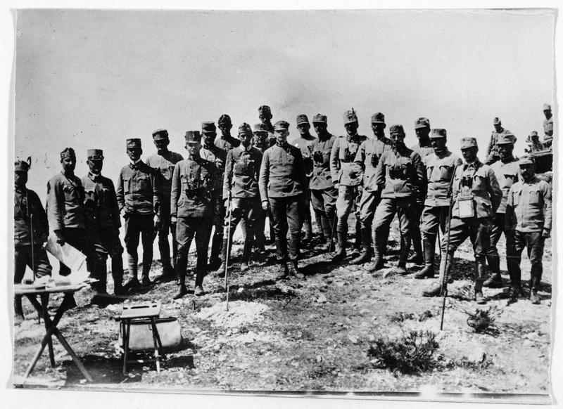 Front du Tyrol. L'archiduc d'Autriche Karl Franz Josef et son état-major