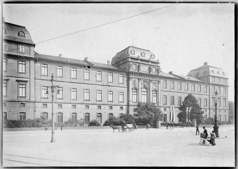 Façade du palais grand-ducal de Darmstadt