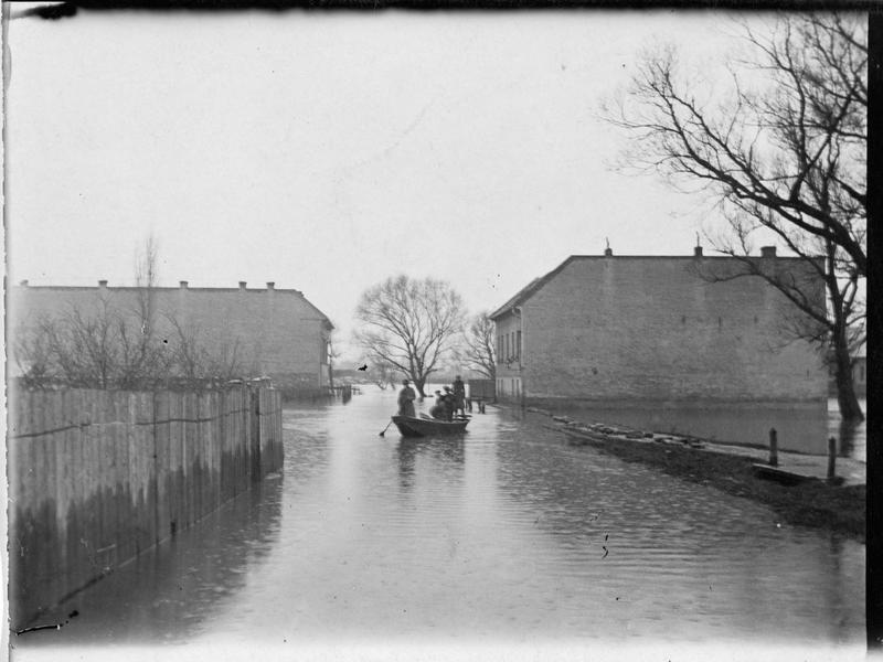 Inondations dans un village près de Budapest