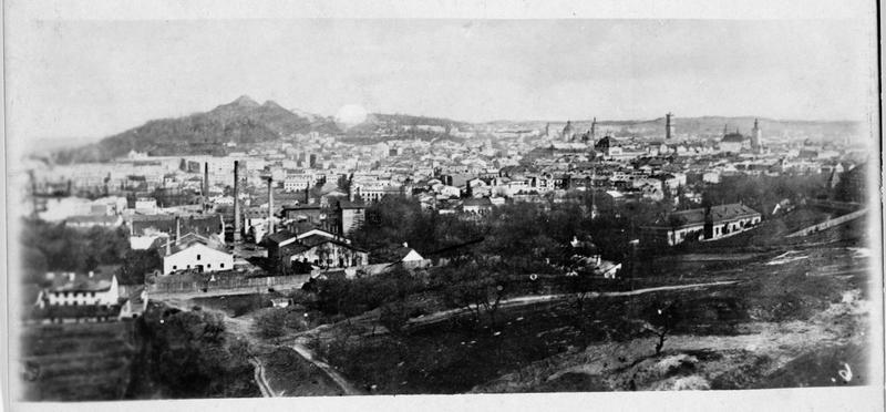 Panorama de la ville de Lemberg (en allemand)