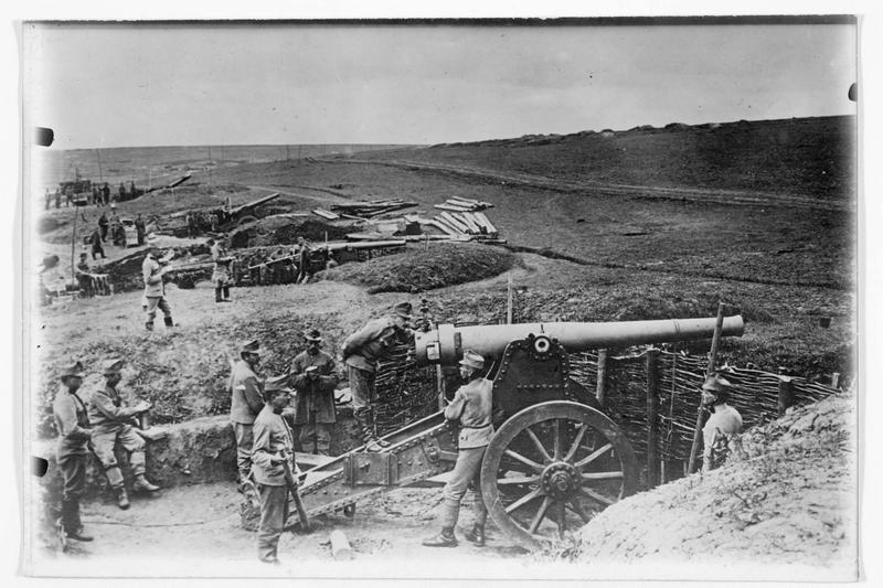 Front de Galicie. Batterie austro-hongroise en position