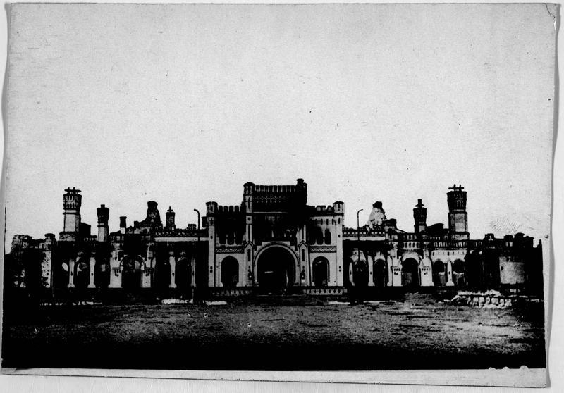 La gare de Brest-Litowsk (anciennement) après l'incendie