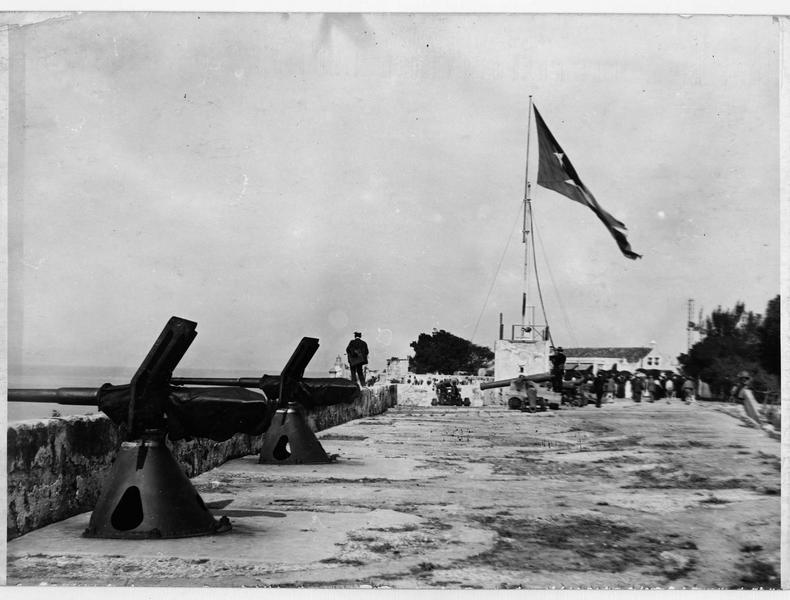 Vue des canons sur les fortifications de La Havane