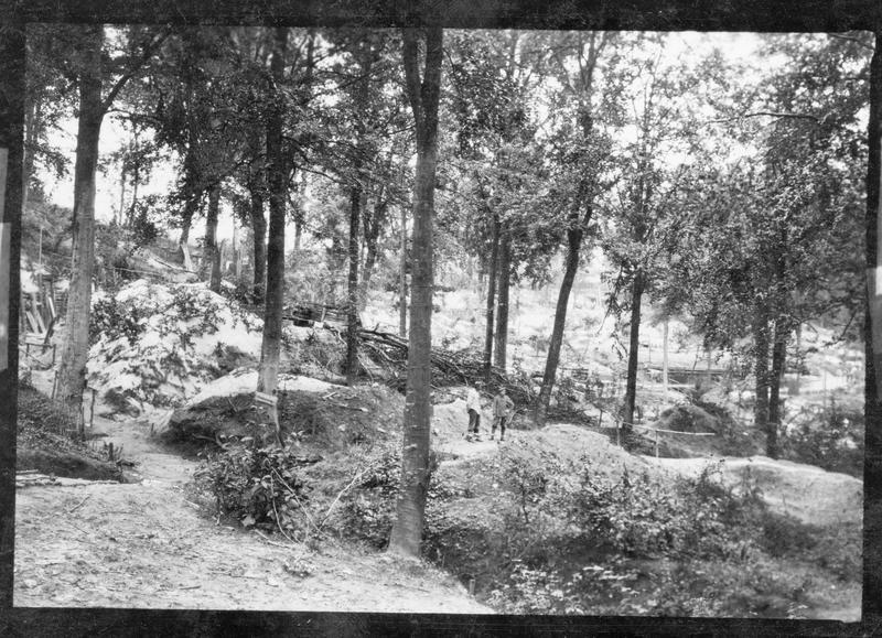 Campement de l'armée allemande dans une forêt du front occidental