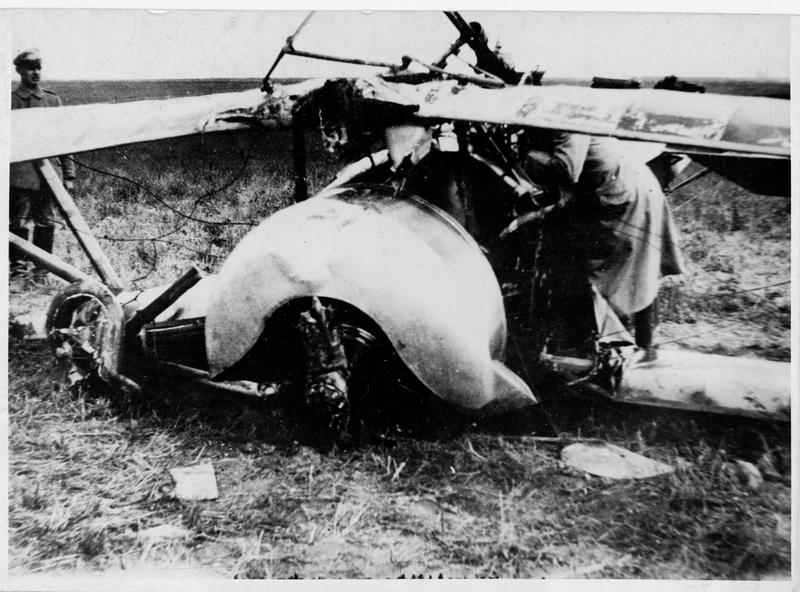 Biplan Nieuport descendu derrière les lignes allemandes