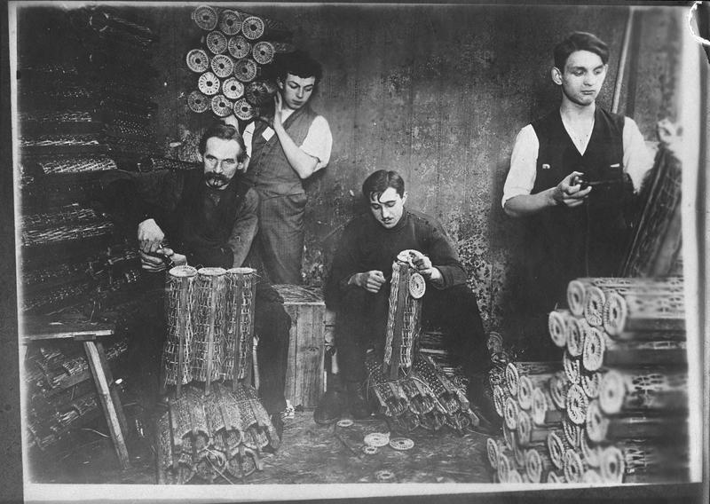 Fabrication de paniers pour obus