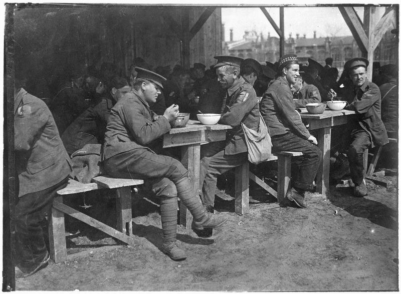 Prisonniers anglais: le repas