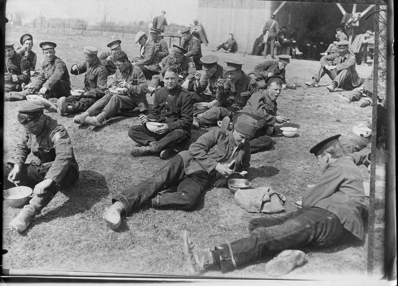 Prisonniers anglais: pause déjeuner