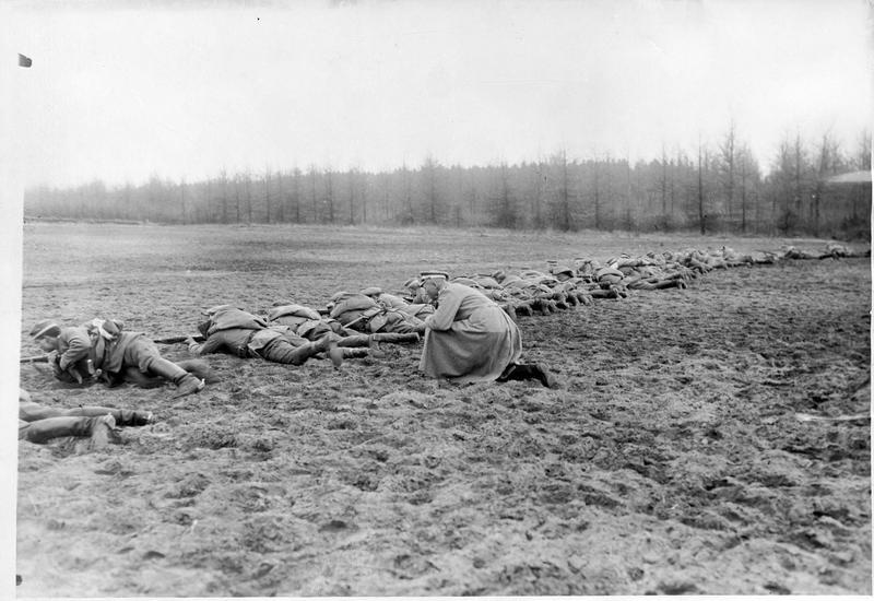 Entraînement des nouvelles recrues du Landsturm à la bataille