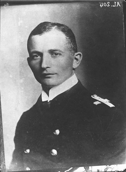 Portrait du capitaine de corvette (Kapitanleutnant) du «Kronprinz Wilhelm», Paul Thierfelder