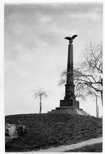 Monument commémoratif de la bataille du Langensalza le 27 juin 1866 sur le Judenhügel, près de Langensalza