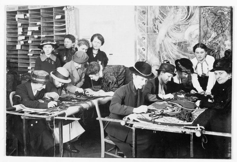 Tapis, fait par les dames de Leipzig, de 9,5m sur 4,5m qui sera accroché au balcon de l'hôtel de ville, le jour du retour des troupes. Chaque point coûte de 5 pfennigs à 5 marks