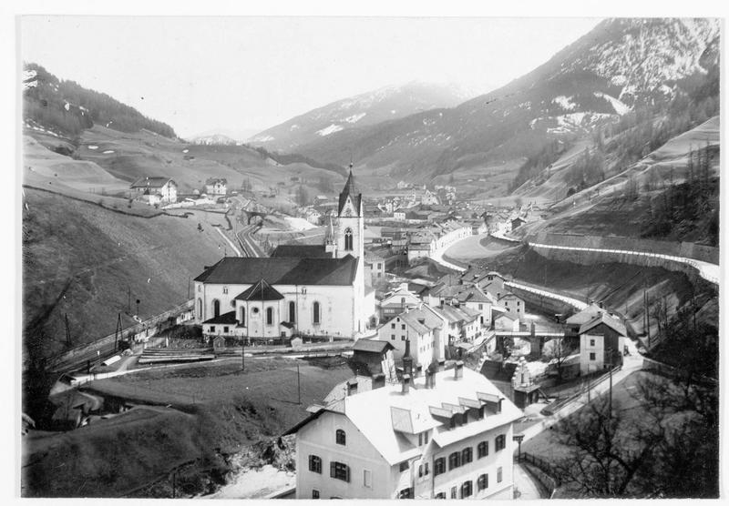 Village près de Brenner qui fut presque entièrement détruit par un incendie