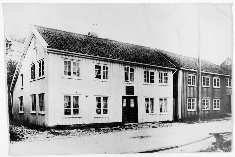 Vue de la maison où habita Henrik Ibsen