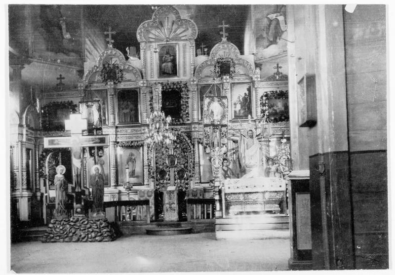 Vue intérieure de l'église russe