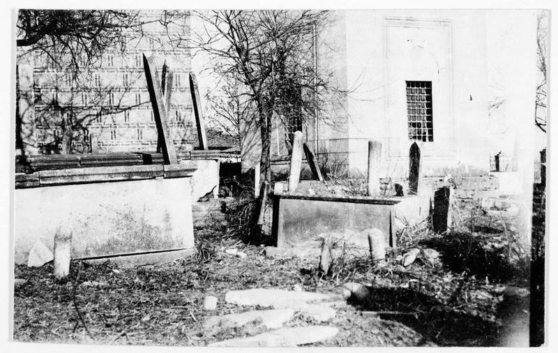 Ancien cimetière turc en Macédoine