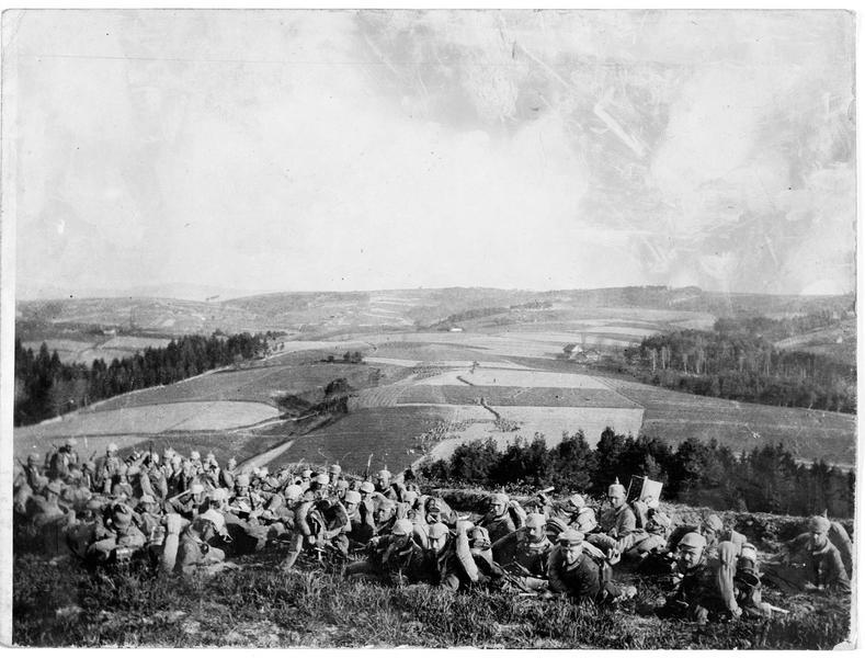 Régiment d'infanterie allemande dans les montagnes de Bucovine