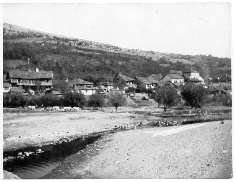 Village bulgare dans les montagnes, à la frontière serbe, près de Kyustendil