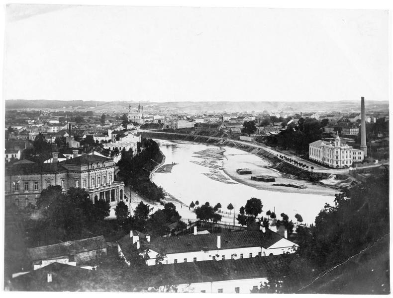 Panorama de la ville de Wilna (en allemand)
