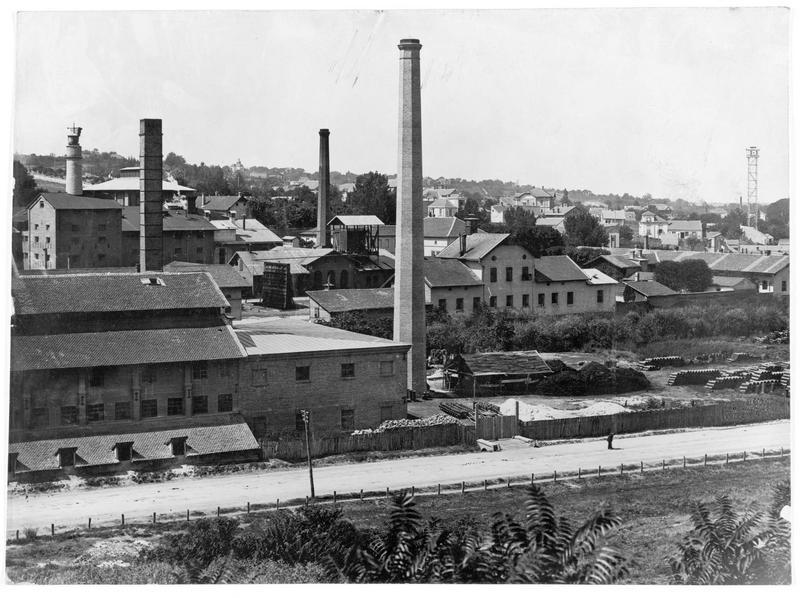 Les grands bâtiments de la manufacture royale serbe de tabac