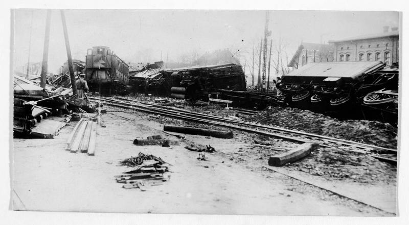 La station de Bentschen près de Posen (en allemand). Catastrophe qui fit 28 victimes et de grands dégâts matériels