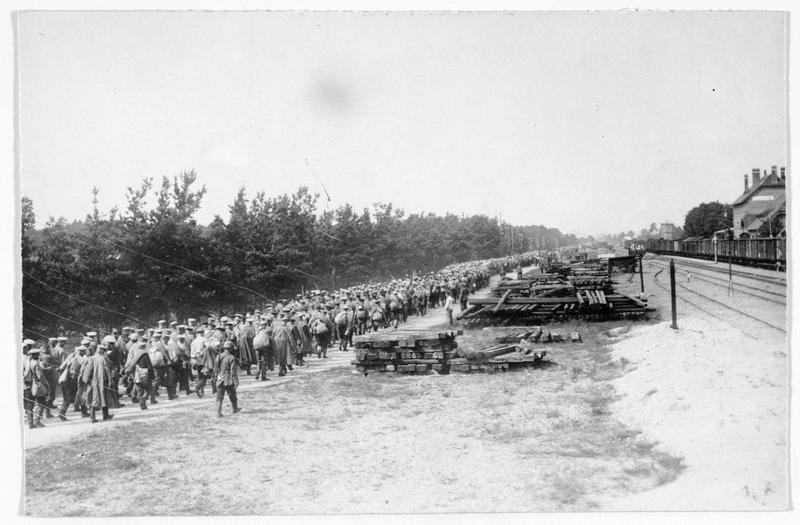 Arrivée des prisonniers russes au camp d'Hammerstein (en allemand)