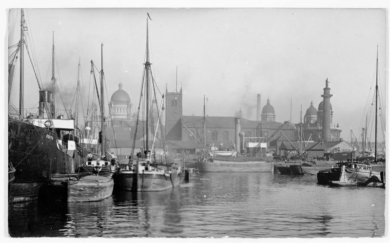 Le port anglais de Hull, à l'embouchure de l'Humber