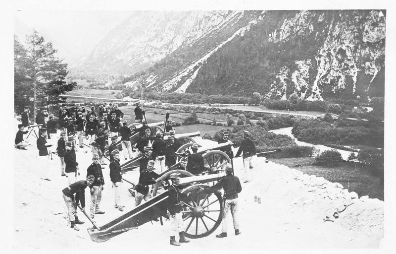 Artillerie autrichienne à Val Malborghetto