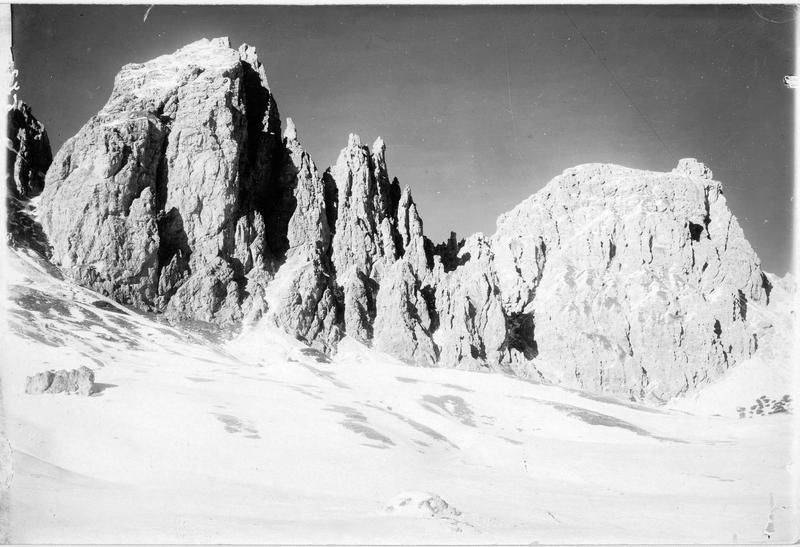 Les montagnes Tschierspitzen au Grödner Joch