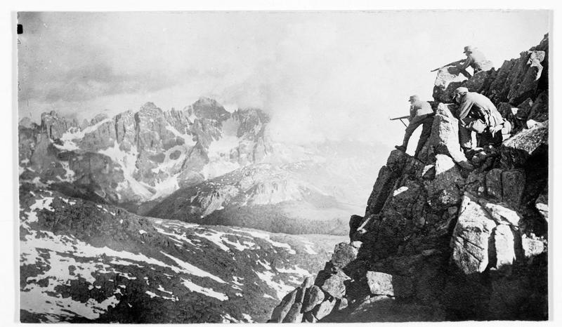 Patrouille autrichienne à la frontière du Tyrol