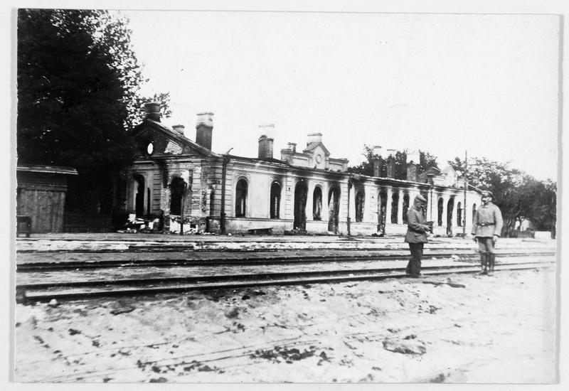 La gare de Biala détruite