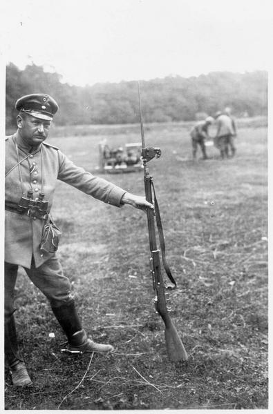 Fusil et baïonnette russes dont il fut trouvé une grande quantité