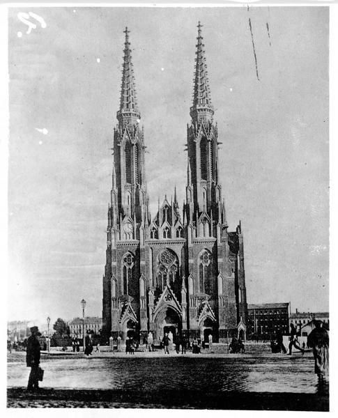 L'église Saint-Florian et la place