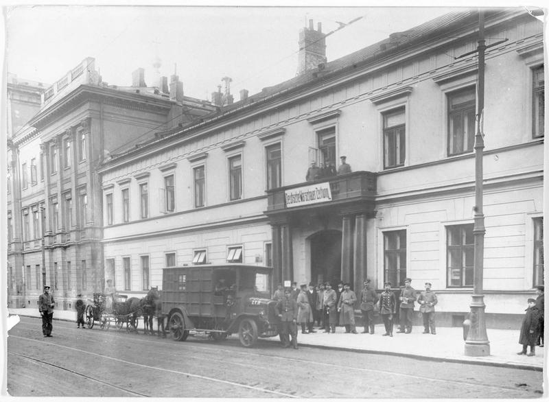Les bâtiments de la presse et du journal allemand de Varsovie